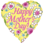 Mother's Day Yellow Standard Foil Balloons S40 - 5 PC
