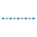 Blue Religious Ring Garlands - 18 PKG