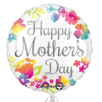 Happy Mother's Day Watercolour Standard Foil Balloons S40 - 5 PC