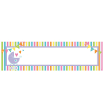 New Baby Personalise It! Giant Sign Banner - 12 PKG