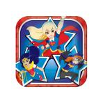 DC Super Hero Girls Square Paper Plates 18cm - 6 PKG/8