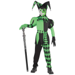 Wicked Jester Costume - Age 12-14 Years - 1 PC