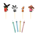 Bing Character Picks with Candles - 6 PKG/4