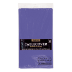 New Purple Plastic Tablecovers 1.37m x 2.74m - 12 PC