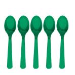 Festive Green Plastic Spoons - 12 PKG/10