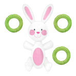 Easter Bunny Inflatable Ring Toss Games - 6 PC