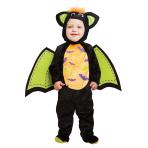 Iddy Biddy Bat Costume - Age 2-3 Years - 1 PC