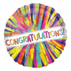 Painterly Burst Congratulations! Standard HX Foil Balloons S40 - 5 PC