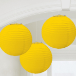 Sunshine Yellow Lanterns 24cm - 6 PKG/3