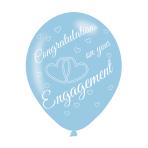 "Engagement Assorted Colours Latex Balloons 11""/27.5cm - 10 PKG/6"