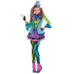 Sassy Mad Hatter Costume - Age 10-12 Years - 1 PC