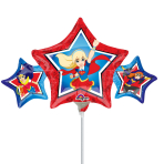 DC Super Hero Girls Mini Shape Foil Balloons A30 - 5 PC