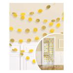 Sunshine Yellow Glitter String Decoration 2.13m - 6 PKG/6