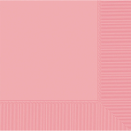 New Pink Beverage Napkins 25cm - 12 PKG/50