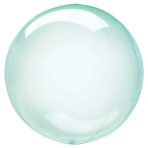 """Crystal Clearz Green Unpackaged Balloons 18""""/46cm S40 - 10 PC"""