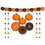 Orange & White Halloween Decorating Kits - 10 PKG/11