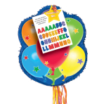 Balloons Personalise It! Pull Pinatas - 4 PC