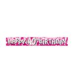 Happy 40th Birthday Foil Banners 2.7m - 12 PKG