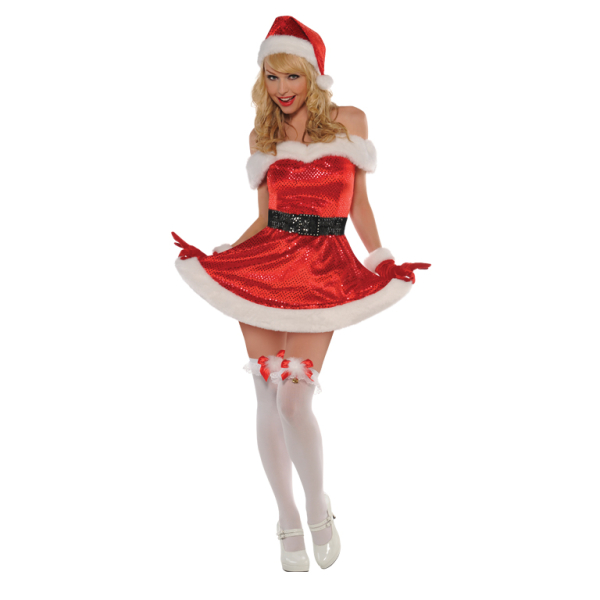 2dc9fc8486a9 Adults Merry Kiss Me Costume - Size 14-16 - 1 PC : Amscan International