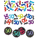 50th Age 3 Pack Mixed Confetti - 12 PKG/3