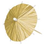 Gold Parasol Picks - 6 PKG/120