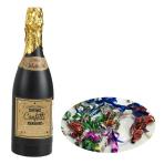 Multi Coloured Foil Confetti Champagne Bottles - 6 PC