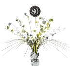 Gold Sparkling Celebration 80th Spray Centrepieces 33cm - 6 PC