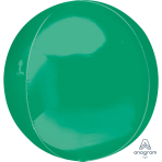 "Green Orbz Packaged Foil Balloons 15""/38cm w x 16""/40cm h G20 - 3 PC"