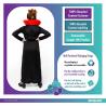 Rose Vampiress Sustainable Costume - Age 6-8 Years - 1 PC