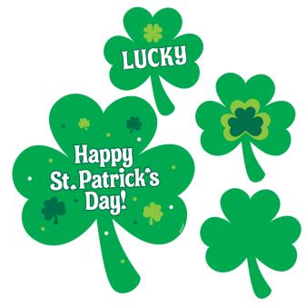 St. Patrick's Printed Value Pack Cut-outs 12.7cm, 17.7cm, 22.8cm, 30.4cm - 12 PKG/30