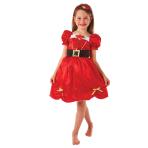 Girls Miss Santa Costume - Age 6-8 Years - 1 PC