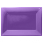 Purple Plastic Serving Platters 33cm x 23cm - 6 PKG/3