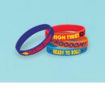 Blaze Rubber Bracelets - 6 PKG/4