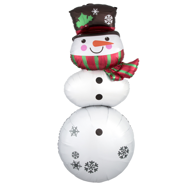 weihnachten schneemann stapler supershape folienballon ebay. Black Bedroom Furniture Sets. Home Design Ideas