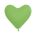 "Fashion Colour Heart Solid Lime Green 031 Latex Balloons 6""/15cm - 100 PC"