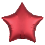 Satin Luxe Sangria Star Standard HX Packaged Foil Balloons S15 - 5 PC