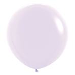 """Pastel Matte Solid Lilac 650 Latex Balloons 24""""/60cm - 3 PC"""
