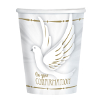 Confirmation Dove Paper Cups 250ml - 6 PKG/8