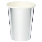 Metallic Silver Paper Cups 250ml - 6 PKG/8