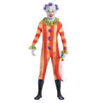 Adults Clown Party Suit Costume - Size M - 1 PC
