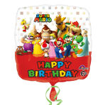 Super Mario Bros Happy Birthday Standard Foil Balloons S60 - 5PC