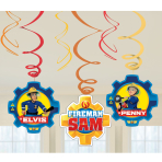 Fireman Sam Swirl Decorations - 10 PKG/6