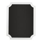 White Glitter Easel Chalkboard MDF Sign 18cm x 23cm x 2cm - 6 PC