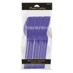 New Purple Plastic Spoons - 12 PKG/10