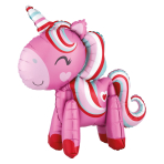 "Unicorn Magical Love Standing Ez-Fill Multi-Balloons 22""/55cm x 21""/53cm A70 - 6 PC"