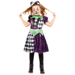 Jester Girl Costume - Age 8-10 Years - 1 PC
