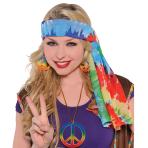 Adults 60`s Hippie Headscarf - 6 PC