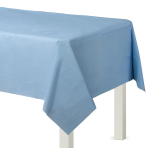 Pastel Blue Rectangular Plastic Tablecovers 1.37m x 2.74m - 12 PC