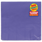 New Purple Dinner Napkins 40cm - 12 PKG/50