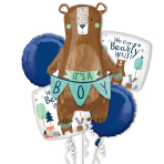 Bear-Ly Wait Satin Foil Balloon Bouquets P75 - 3 PC